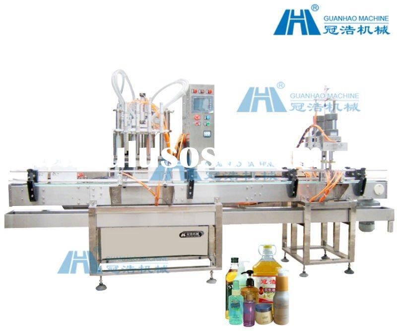 4-head automatic piston-type filling and screwing production line