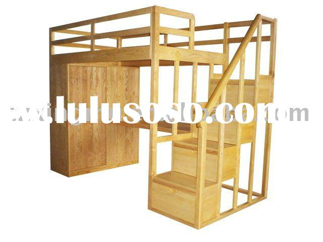 Antique&High Quality Bedroom Furniture - solid wood children bed