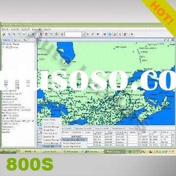 GPS fleet management system for vehicles/persons, with free map