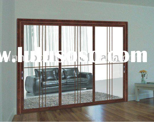 H10-054 three panels room divider door with three tracks