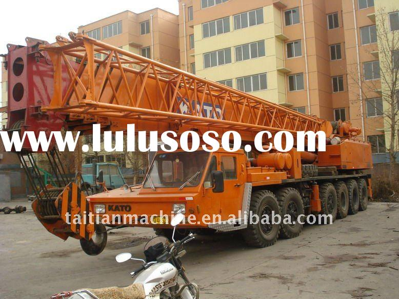 Kato second hand used mobile truck crane 80ton, good running conditions, very good price