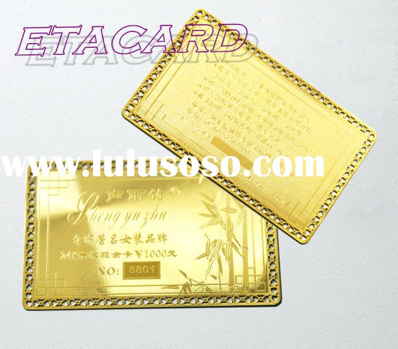 Offer high quality VIP metallic card