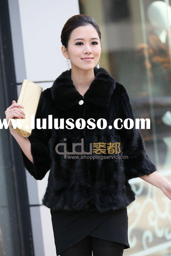 QD-BLT-13 Mink Fur Jacket,fast delivery,high quality,in stock,dyed