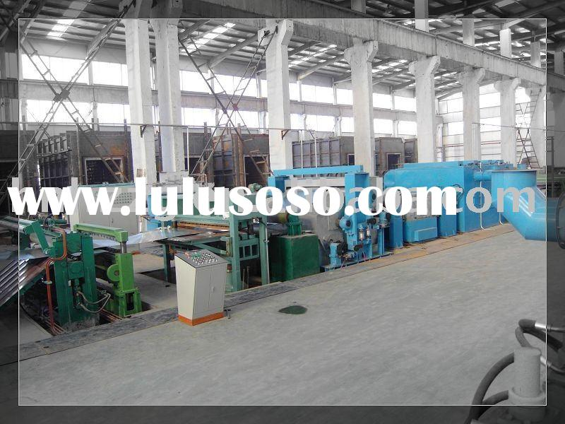 Supply sheet metal straightening machine
