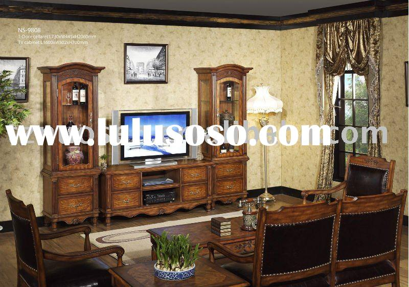 french provincial wooden living room furniture NS-9808