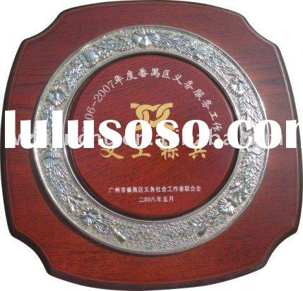 high quality wooden award Medal