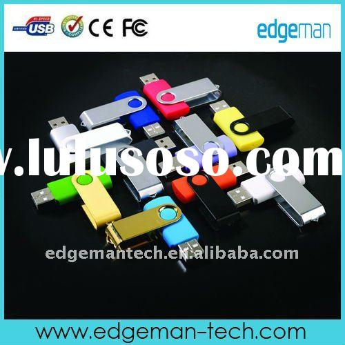 swivel pen drive, CE ROHS FCC Approval, logo printed