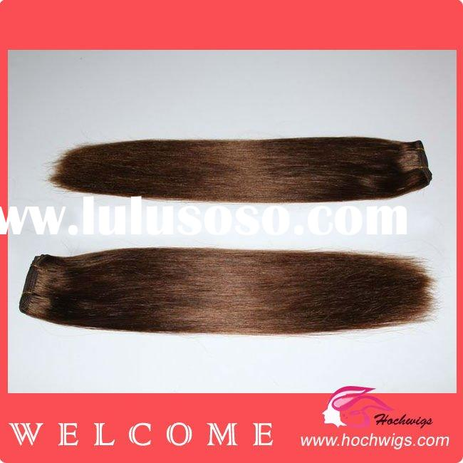 Straight 16 Inch Color 4# High Quality Chinese Remy Human Hair Weft