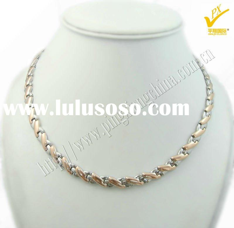 2011 new fashion Stainless Steel magnetic necklace jewelry