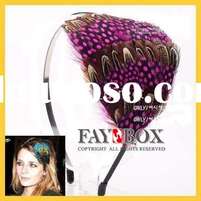 2011 new style real feather hairband,feather headband