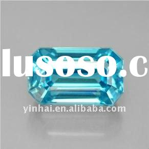 AAAA grade light blue octagon facet cubic zirconia, cz