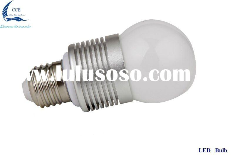 LED led glass bulb lamp with 3w power and aluminum material
