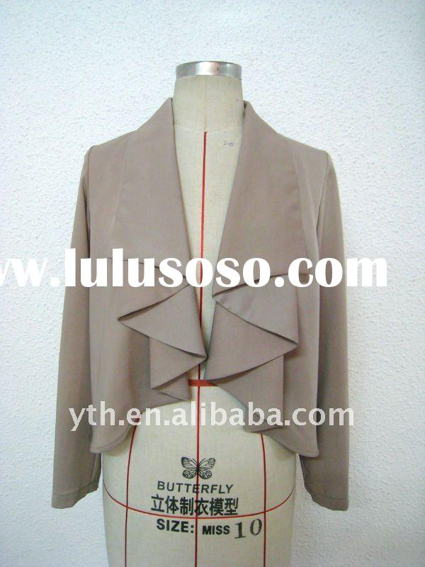 New Style 2011 Autumn Ladies' Long Sleeves With Layered Front Formal & Casual Jacket