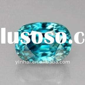 fancy blue oval cut cubic zirconia gemstone, CZ gemstone