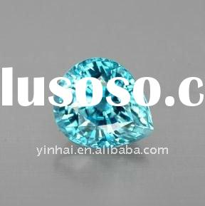 fancy light blue pear cut cubic zirconia, cz