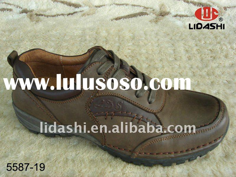 China Factory Salable Handmade Leather Sports Shoes