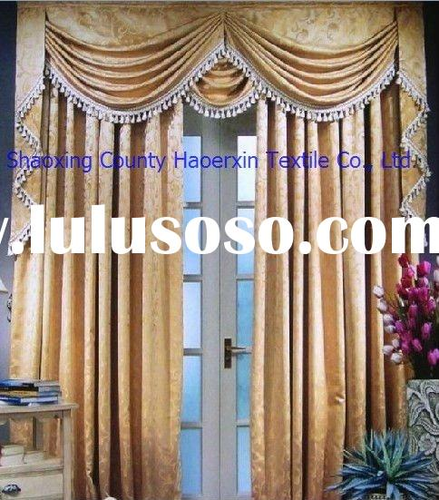 European Window Manufacturers : Luxury european style window curtain for sale price