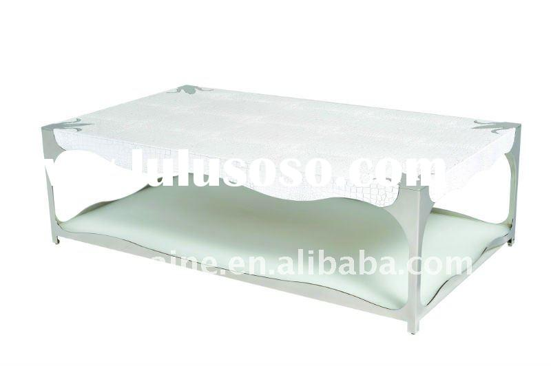 White high gloss Crocodile grained Coffee Table