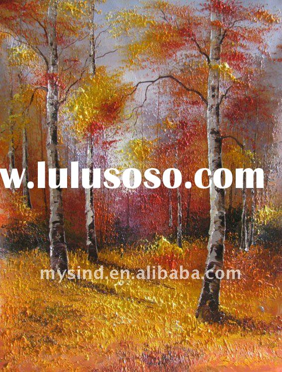 handmade landscape nature scenery painting