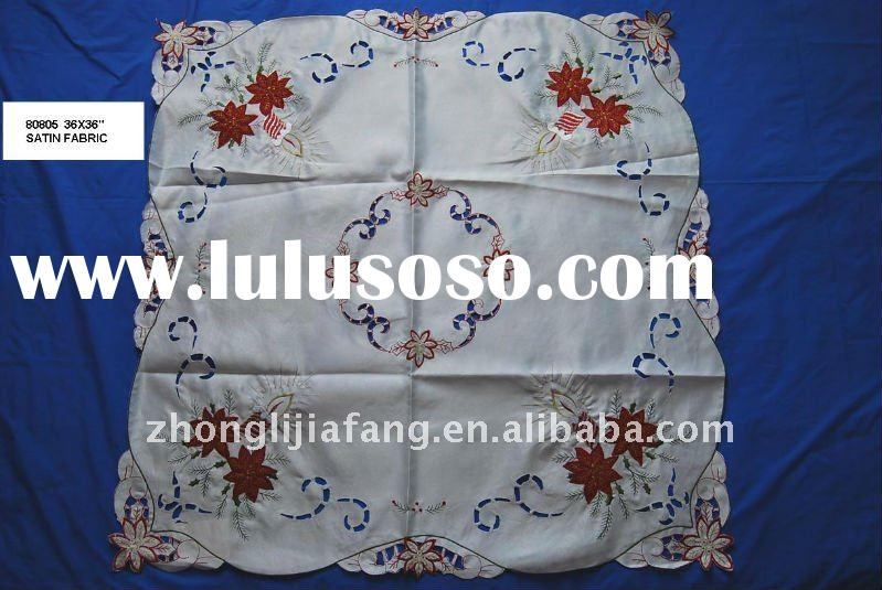 machine embroidery tablecloth