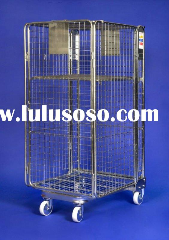 roll container/roll cage/zinc plated roll container/foldable roll container