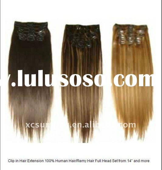 100% Indian Remy Hair  Clip in hair extention