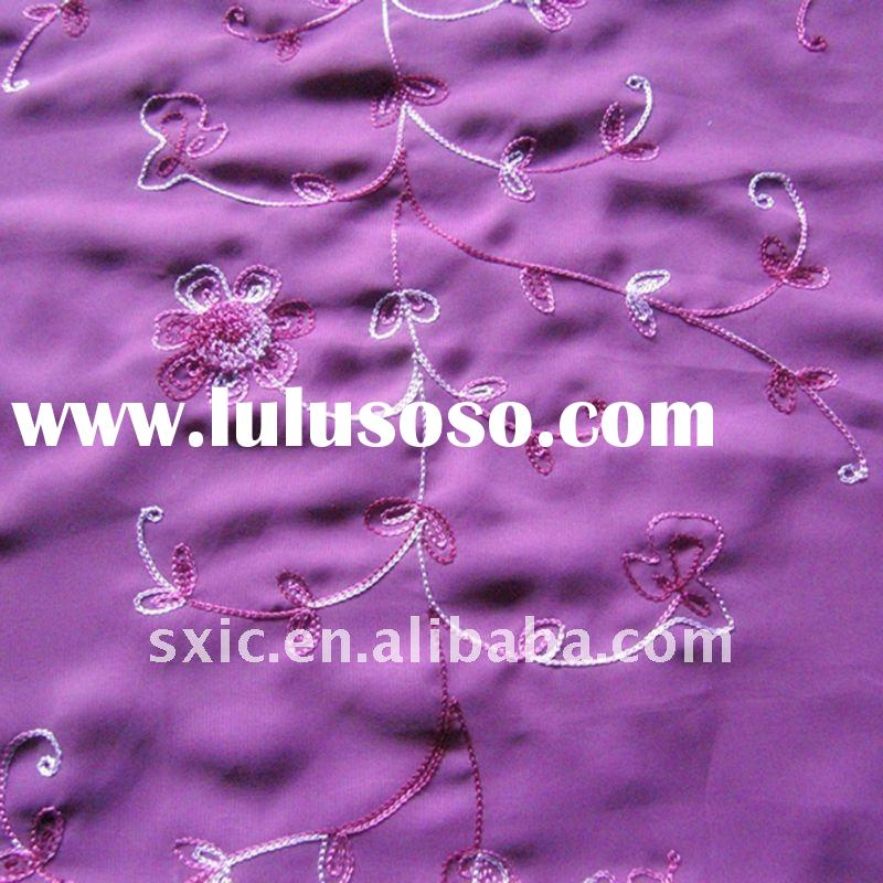 100% Polyester embroidery georgette dress fabric
