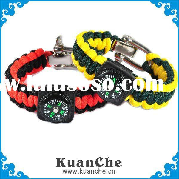 2011 fashion survival bracelet with 550 cord