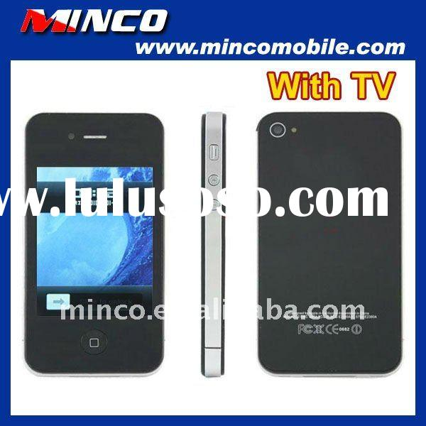 "3.2"" touchscreen quad band gsm dual sim card I9 4G F8 TV phone"