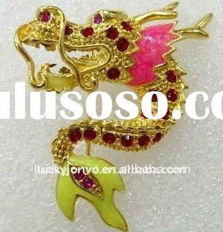 537 Dragon brooch ancient Chinese Totem loong jewelry