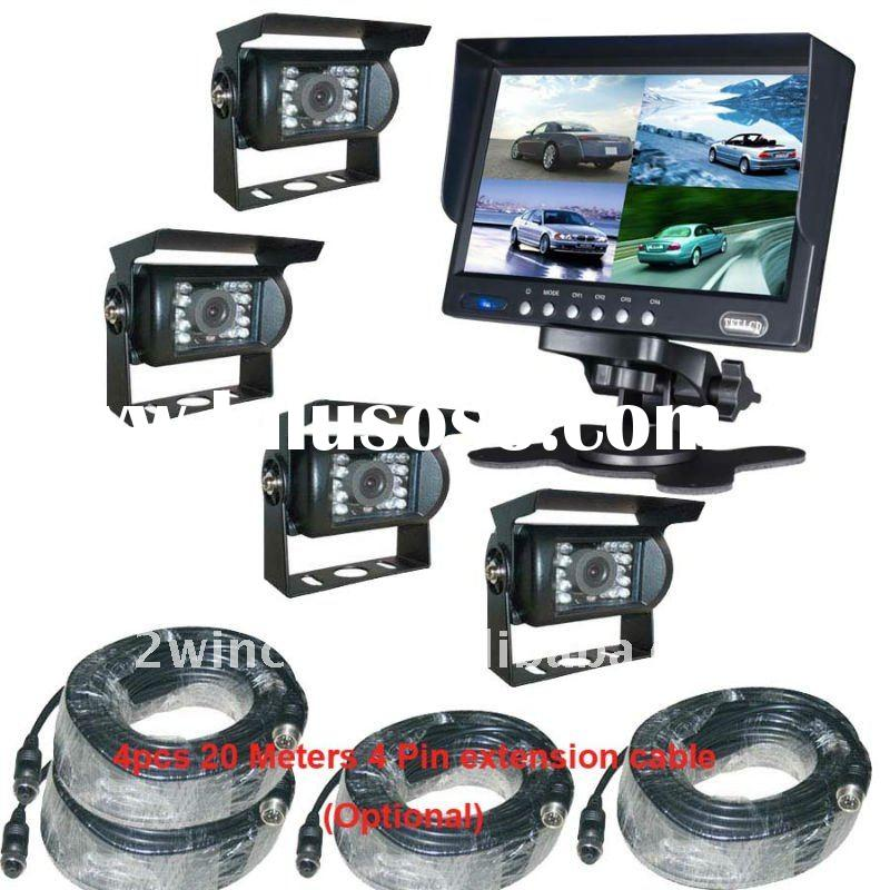 7inch 4ch car Real View Monitor system