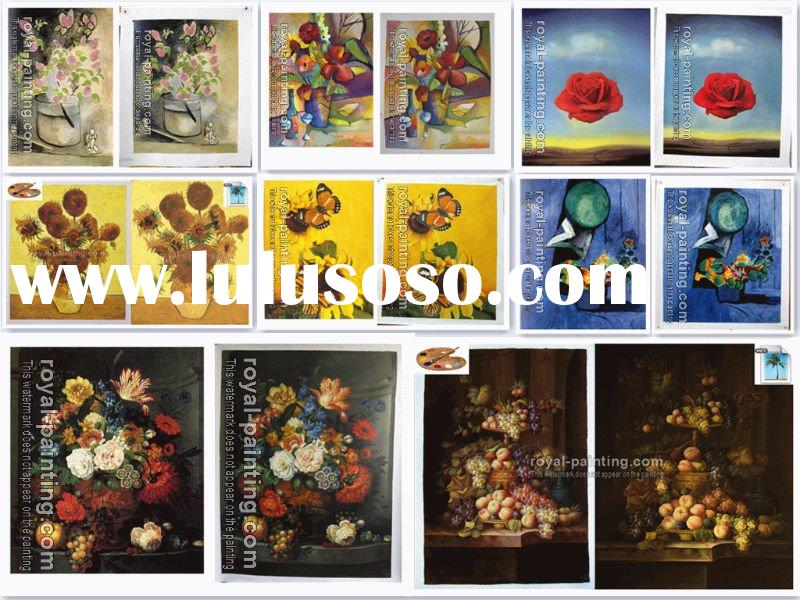 High quality flower oil painting