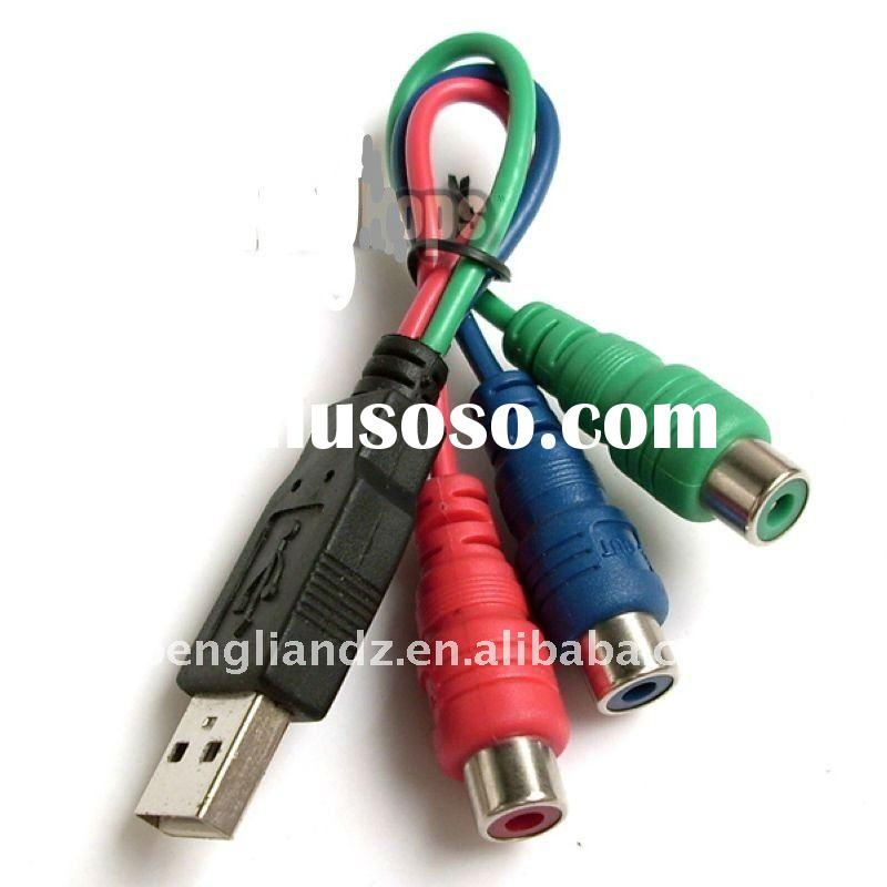 New Version Hot Sell Female USB to RCA Cable
