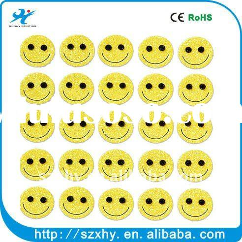 Smiley face stickers lable