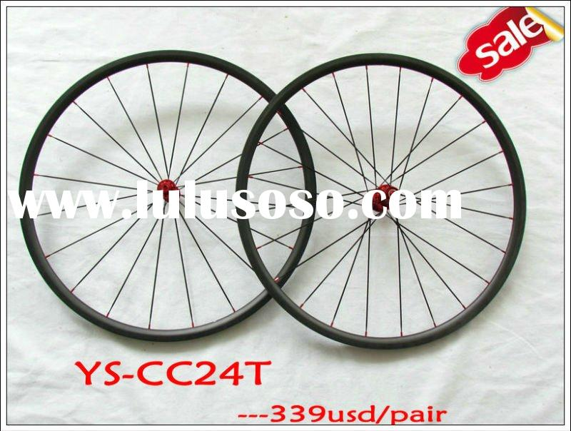 YS-CC24T T700 toray full carbon  24mm tubular wheelset,bike road bike wheelset,carbon road racing bi