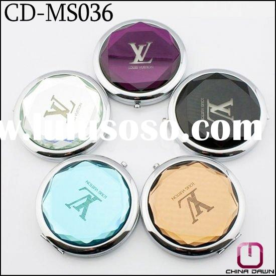 gift round crystal makeup mirror for promotion CD-MS036