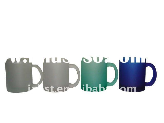 11oz frosted glass mug at different color