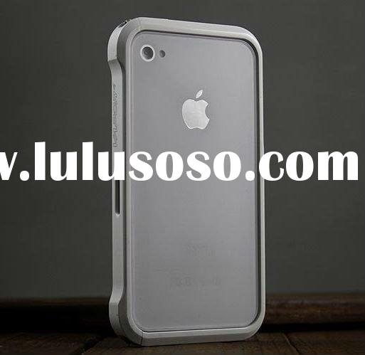 2011 New arrival white vapor 4 metal bumper cover for iphone4 4g