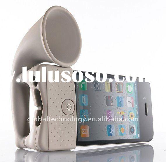 2011 Newest silicone horn loudspeaker design stand for iphone