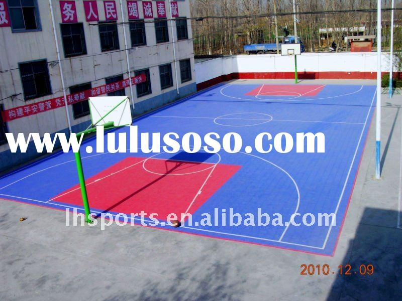 Best Discount Easy Remove Suspended Interlocking PP Sport Floor