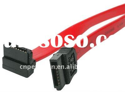 Right Angle Serial ATA SATA II Data Cable Lead with Clip By PL