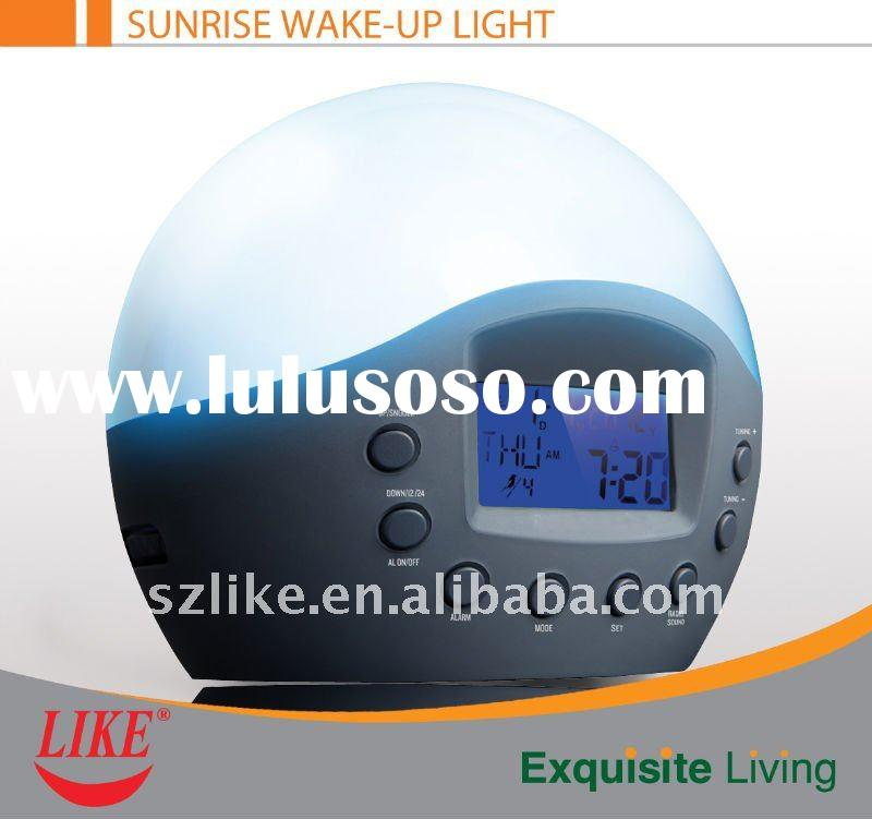 Sunrise Simulated Wake Up Light With Natural Sound Alarm