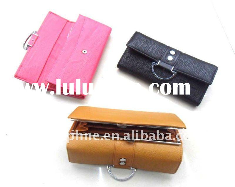 fashion Quilted wallet/ pu leather purse/paillette wallet
