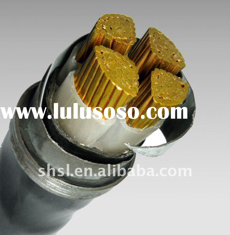 0.6/1kv Copper conductor,XLPE insulated Steel Wire Armoured PVC sheathed Power cable