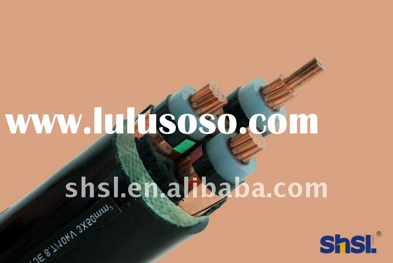 8.7/15kv Copper conductor XLPE insulated PVC sheathed Power Cable