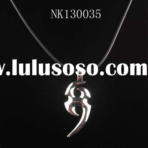 Cheap gift jewelry metal charms pendant necklace for man/boy nk130035