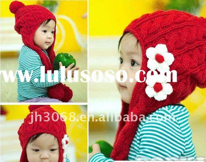 Crochet fashion winter hat for children