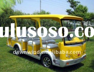 Yellow color mini sightseeing car/buses with 11 seater