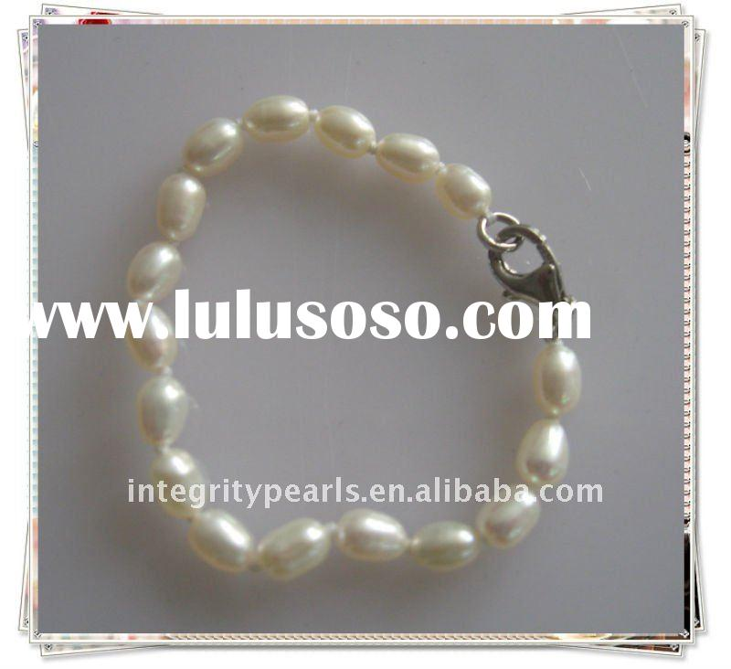 lovely real freshwater pearl baby bangle bracelets
