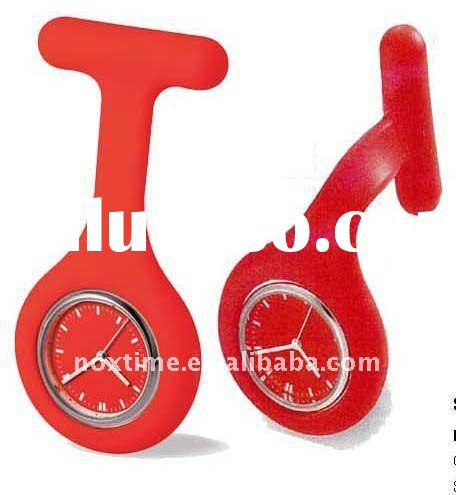 2011 hot sale silicone nurse watch